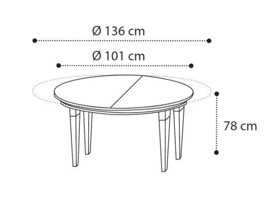 Круглый стол раскладной Treviso фото 1