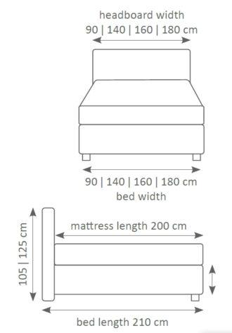 Континентальная кровать 402 фото 4