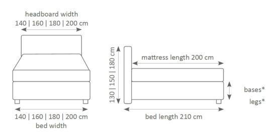 Континентальная кровать 700 фото 12