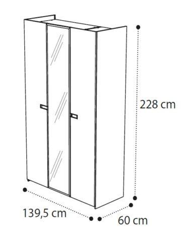 Шкаф 3-дверный AMBRA фото 3