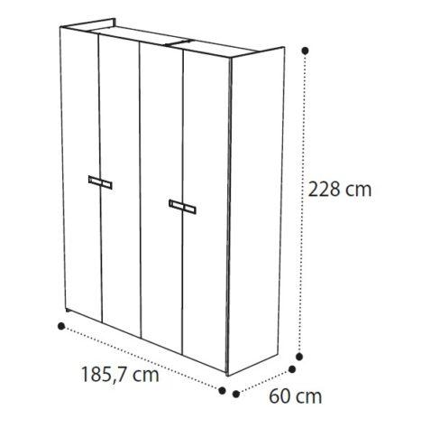 Шкаф AMBRA 4-дверный фото 1