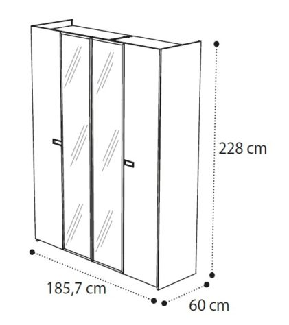 Шкаф AMBRA 4-дверный фото 2