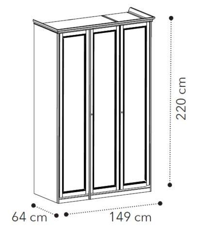 Шкаф 3-дверный Nostalgia Bianco antico фото 1