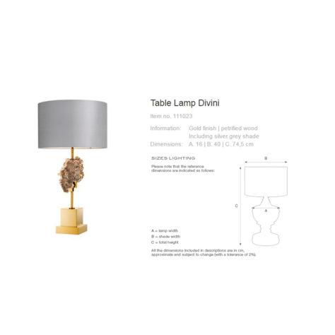 Настольная лампа Divini 111023 фото 4