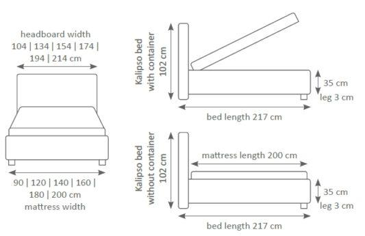 Кровать Kalipso фото 2