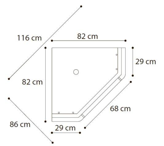 Угловая витрина Siena фото 1