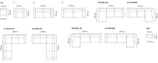 Модульный диван Monday фото 1