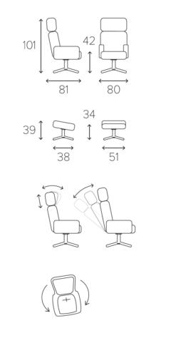 Вращающееся кресло Timeout фото 14