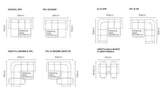 Угловой диван Toledo с электрореклайнером фото 2