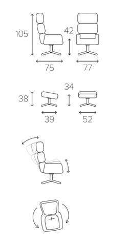Кресло Turtle вращающееся с наклоном фото 9