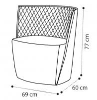 Кресло DAYTONA trapuntato фото 1