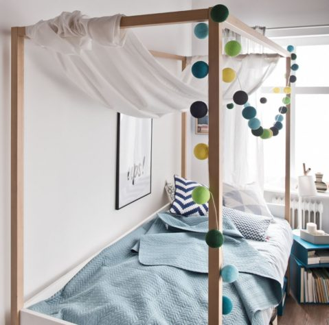 Кровать с балдахином 4 You 120*200 фото 1