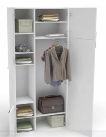Шкаф 4 You 2-дверный с открытым отсеком фото 3