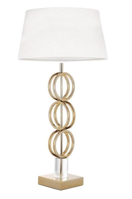 Настольная лампа Kayla с белым абажуром