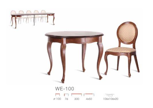 Круглый раздвижной стол WE-100 фото 3