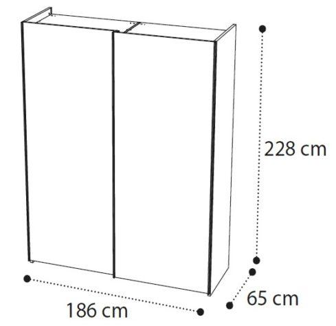 Шкаф-купе AMBRA 2-дверный фото 3