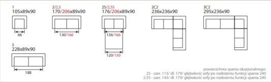Раскладной диван Bari 2.5S фото 5