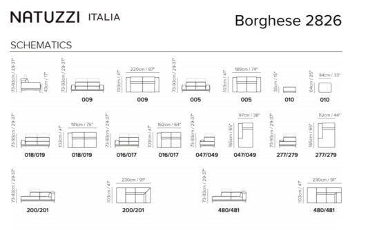 Угловой диван Borghese фото 5