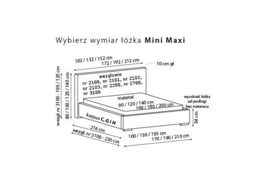 Кровать Mini Maxi 2700 фото 2