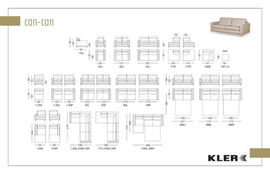 Модульный диван Can-Can W110 фото 2