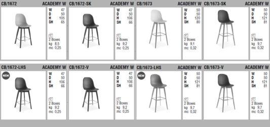 Полубарный стул Academy W фото 13
