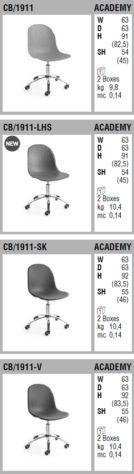 Вращающийся стул Academy CB1911 фото 9
