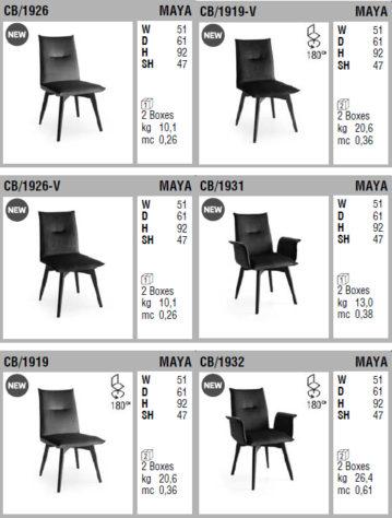 Вращающийся стул Maya фото 10