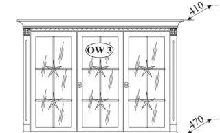 Витрина-надставка OW-3
