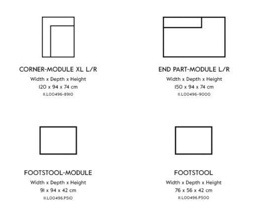 Модульный диван Vesta Standard And Special LC фото 12