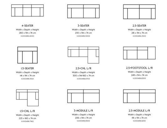 Модульный диван Vesta Standard And Special LC фото 8