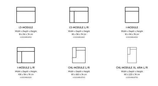 Модульный диван Vesta Standard And Special LC фото 9
