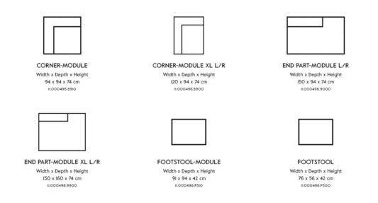 Модульный диван Vesta Standard And Special LC фото 10