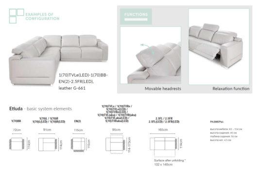 Угловой диван Etiuda фото 1