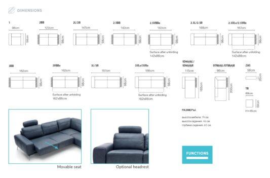 Модульный диван Stelvio фото 8