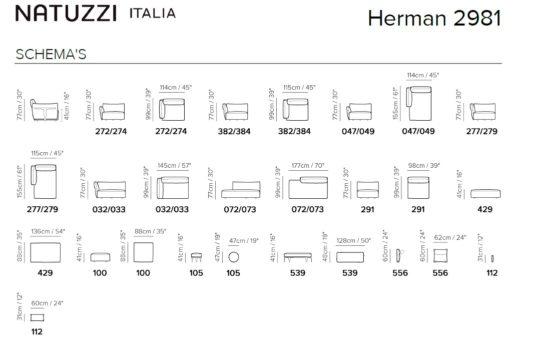 Модульный диван Herman фото 4