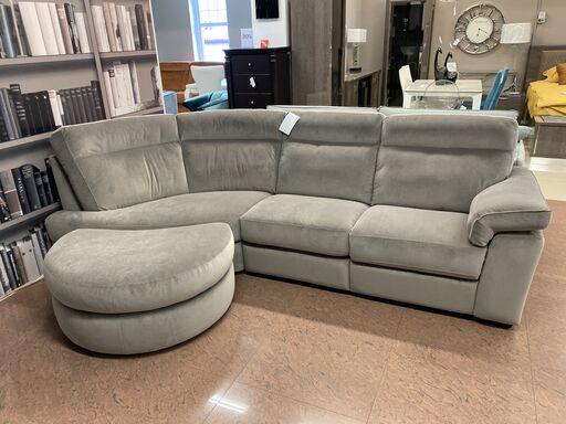 Угловой диван Brivido B757 с электрореклайнером