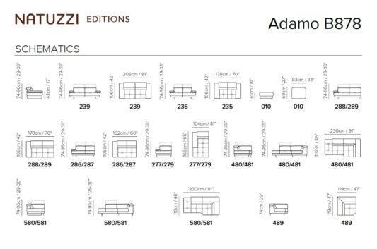 Модульный диван Adamo B878 фото 2
