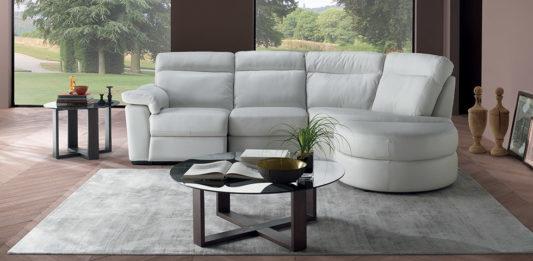 Угловой диван Brivido B757 с электрореклайнером фото 5