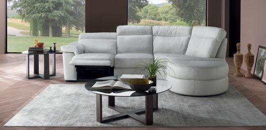 Угловой диван Brivido B757 с электрореклайнером фото 6