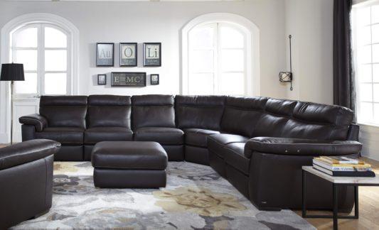 Угловой диван Brivido B757 с электрореклайнером фото 2