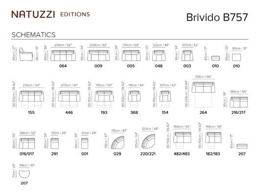 Угловой диван Brivido B757 с электрореклайнером фото 3