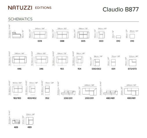 Модульный диван Claudio B877 фото 2