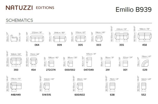 Модульный диван Emilio B939 фото 2