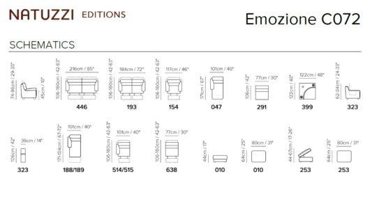 Модульный диван Emozione C072 фото 2