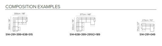 Модульный диван Emozione C072 фото 3