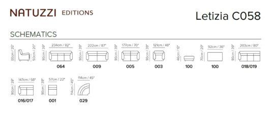 Модульный диван Letizia C058 фото 2