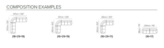Модульный диван Letizia C058 фото 3