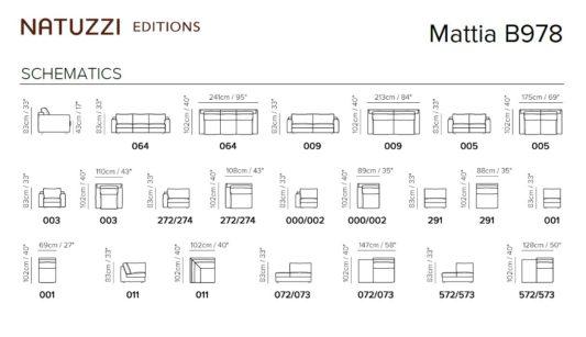 Модульный диван Mattia B978 фото 2