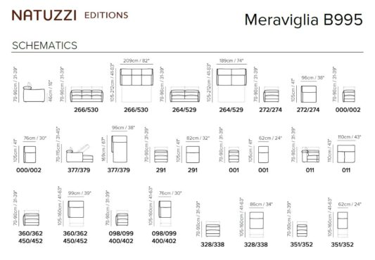 Модульный диван Meraviglia B995 фото 2