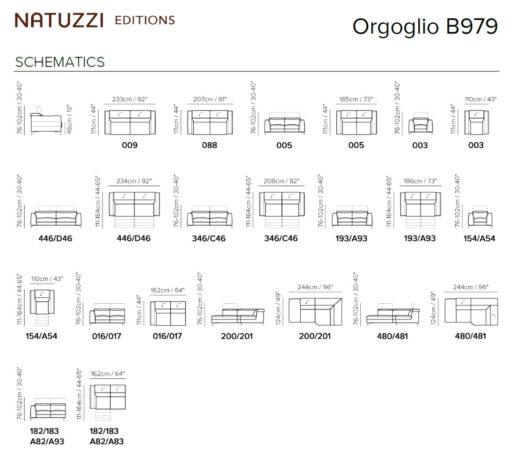 Угловой диван Orgoglio B979 фото 2